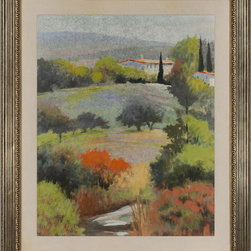 Paragon Decor - A Home in Tuscany Artwork - Exclusive Mixed Media - Mounted on Board