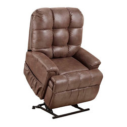 Med Lift - Med Lift Full Sleeper Lift Chair (Stampede Chocolate Fabric) - If you or a loved one needs help sitting down or standing back up, a lift chair recliner offers a perfect solution as well as a sense of personal independence. Perfect for watching television, reading, or sleeping. With the touch of a button the chair gently rises or reclines. The electric motor provides a smooth transition from recline to a standing position, making it ideal for persons who have difficulty getting into or out of a chair.