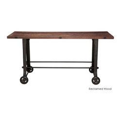 Nuevo Living - V17 Bar Table, Reclaimed Wood Top - Roll ...