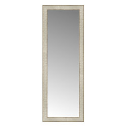 """Posters 2 Prints, LLC - 14"""" x 38"""" Libretto Antique Silver Custom Framed Mirror - 14"""" x 38"""" Custom Framed Mirror made by Posters 2 Prints. Standard glass with unrivaled selection of crafted mirror frames.  Protected with category II safety backing to keep glass fragments together should the mirror be accidentally broken.  Safe arrival guaranteed.  Made in the United States of America"""
