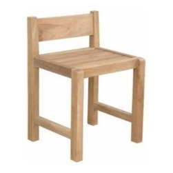 Anderson Teak - Sedona Chair - This Sedona dining chair is design for restaurant / cafe purposes. It is economical but yet, strong and comfortable enough for sitting gathering with your family or friends for hours. It is generously sized for added comfort and handsomely crafted in solid construction of plantation kiln dried teak, which makes this chair a wise choice for your dining needs. Add any table of your choice for a complete set. All tables are mix and match with Sedona dining chair. Cushion is optional.