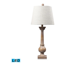 Dimond Lighting - Dimond Lighting 93-9248-LED Taylorsville 1 Light Table Lamps in Bleached Wood - Bleached Wood Post Table Lamp Large- LED Offering Up To 800 Lumens (60 Watt Equivalent) With Three Way Capabilty. Includes An Easily Replaceable LED Bulb (120V)