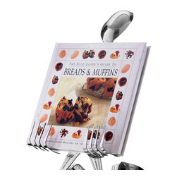 Forked Up Art - Cookbook Stand - Spoon - Stands a towering 15 inches! Holds a large-sized cookbook, cutting board, tablet and more!