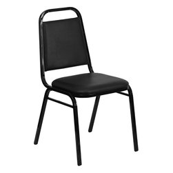 Flash Furniture - Hercules Series Trapezoidal Back Stacking Banquet Chair With 2.5'' Thick Seat - This is one tough chair that will withstand the rigors of time. With a frame that will hold in excess of 500 lbs., the HERCULES Series Banquet Chair is one of the strongest banquet chairs on the market. You can make use of banquet chairs for many kinds of occasions. This banquet chair can be used in Church, Banquet Halls, Wedding Ceremonies, Training Rooms, Conference Meetings, Hotels, Conventions, Schools and any other gathering for practical seating arrangements. The banquet chair is also great for home usage from small to large gatherings. For any environment that you use a banquet chair it will put your guests at a greater comfort level with the padded seat and back. Another advantage is the stacking capability that allows you to move the chairs out of the way when not in use. With offerings of comfort and durability, you can be assured that you can enjoy this stacking banquet chair for years to come.