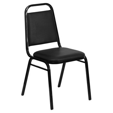 Flash Furniture - Hercules Series Upholstered Stack Chair with Trapezoidal Back and a 1.5'' Seat - This is one tough chair that will withstand the rigors of time. With a frame that will hold in excess of 500 lbs., the Hercules Series Banquet Chair is one of the strongest banquet chairs on the market. You can make use of banquet chairs for many kinds of occasions. This banquet chair can be used in Church, Banquet Halls, Wedding Ceremonies, Training Rooms, Conference Meetings, Hotels, Conventions, Schools and any other gathering for practical seating arrangements. The banquet chair is also great for home usage from small to large gatherings. For any environment that you use a banquet chair it will put your guests at a greater comfort level with the padded seat and back. Another advantage is the stacking capability that allows you to move the chairs out of the way when not in use. With offerings of comfort and durability, you can be assured that you can enjoy this stacking banquet chair for years to come.