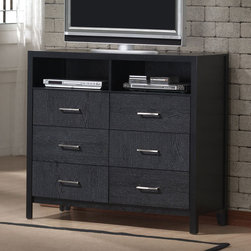 Coaster - Grove Media Chest - The timeless design and unique wood grain of the Grove bedroom collection makes this set a simple choice. Made from select hardwoods and Okume veneers.