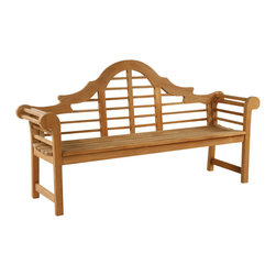 Lutyens Bench - By Kingsley Bate - The well-known LUTYENS bench, which graces England's most famous gardens, originated from famed architect Sir Edwin Lutyens. Our LUTYENS bench is the quintessential version, made with a comfortable curved seat, heirloom-quality construction and romantic, flowing lines.