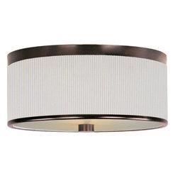 ET2 - ET2 E95102-102 Elements 3-Bulb Flush Mount Indoor Ceiling Fixture - Fabric Shade - Product Features: