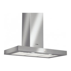 """Bosch - 500 Series DKE9465MUC 36"""" Wall Mount Chimney Hood with 600 CFM Blower  4 Fan-Spe - With attractive styles ranging from traditional to contemporary Bosch ventilation products are not only kind to the nose but a treat to the eyes as well Whether you choose an updraft or a down draft system they simultaneously make a strong design sta..."""