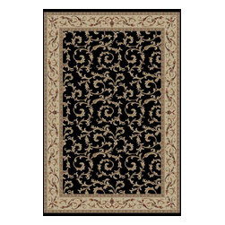 Brilliance 3934 Black Area Rug - 6 ft 7 in x 9 ft 6 in - Machine made of 100% polypropylene, the Brilliance Collection is an exceptional value and adds a sense of sophistication to any room.