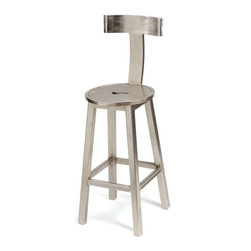 "Go Home Ltd - Go Home Ltd 30"" Seat Height Steel Finish Barstool X-03-05601 - Go Home Ltd 30"" Seat Height Steel Finish Barstool X-03-05601"