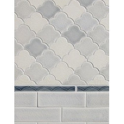 Modern Morocco - Small scallop fan mosaic is a playful interpretation of shaped tile. Whether used in a solid color to create a texture or in multiple colors the scallop fan looks fantastic.