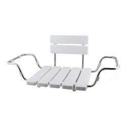 SteamSpa - Adustable Bathtub Seat w/ Back Rest Support - Acrylic Bath Seat Bench by SteamSp - DESCRIPTION