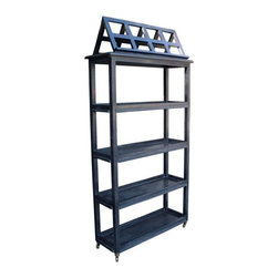 NOIR - NOIR Furniture - Library Bookcase in Hand Rubbed Black - GBCS110HB - Features:
