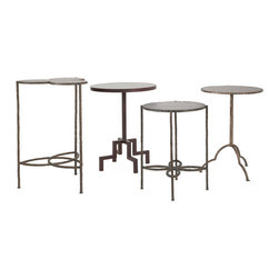 David Mitchell - A series of metal accent tables designed by DC designer David Mitchell. Can be made in any one of a multitude of finishes. Purchase through an interior designer.
