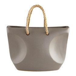 Cyan Design - Leave Me Knot Vase-06078 - Leave me knot vase - grey