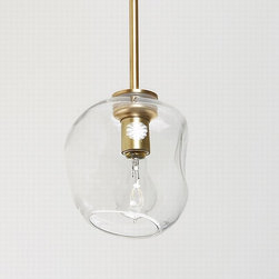 Bubble Pendant - There is something not quite perfect about this pendant, which I like. It may have to do with the fact that it is handblown. The human quality is a nice touch, especially in a room like the kitchen, that can often times feel anything but.