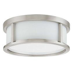 "Nuvo Lighting - Nuvo Lighting 60-2859 Odeon 2-Light 13"" Flush Dome with Satin White Glass - Nuvo Lighting 60-2859 Odeon 2-Light 13"" Flush Dome with Satin White Glass"