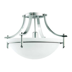 Kichler - Kichler Olympia Semi-Flush Mount Ceiling Fixture in Antique Pewter - Shown in picture: Semi Flush 1Lt in Antique Pewter