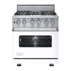 "Viking 30"" Pro-style Dual-fuel Range, White Natural Gas 