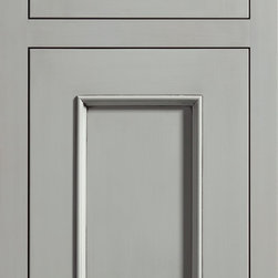"""Dura Supreme Cabinetry - Dura Supreme Cabinetry Marley Inset Cabinet Door Style - Dura Supreme Cabinetry """"Marley"""" inset cabinet door style in Paintable shown with Dura Supreme's """"Zinc"""" gray paint with """"Shadow"""" Glaze finish with concealed inset hinge. (With non-beaded frame)"""