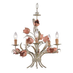 Crystorama - Light Southport Handpainted Wrought Iron Chandelier - The Southport collection is evocative of vintage tole fixtures. We offer it in a vintage, soft hand painted finish or glossy white. The high-end designer finish lends a contemporary feel to the whimsical collection.