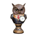 Winward Designs - Owl Objet - A fun curiosity owl objet made of resin for all your holiday decoration needs.