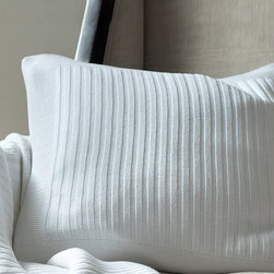 Captiva White Square Pillow - Ultra soft and cozy, the Captiva Square Pillows ribbed design is simple yet elegant. Perfect for an afternoon nap or an evening by the fire, this stretchy, comfortable pillow comes in one of six gorgeous shades and can be combined with the matching throw for a chic matching look.