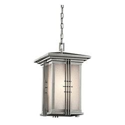 Joshua Marshal - One Light Stainless Steel Hanging Lantern - One Light Stainless Steel Hanging Lantern