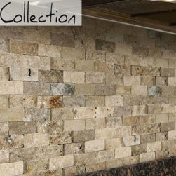 Split Face Stone Collection - Scabos Travertine -