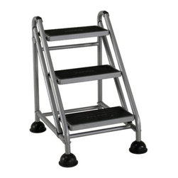 Cosco - Cosco 3 Step Rolling Commercial Step Stool Multicolor - 11834GGB1 - Shop for Stepstool from Hayneedle.com! The Cosco 3 Step Rolling Commercial Step Stool is ideal for use in the home or office. This sturdy stool features a welded steel construction with a powder coat finish non-slip bell foot casters and non-skid extra wide resin treads. 3-step stool has a 300-pound weight capacity.About CoscoFor over 65 years Cosco has been providing innovative and functional home and office products and continues to be the leader in the industry as the largest manufacturer of folding ladders step stools and folding furniture. Products also include tables and chairs in premium molded plastic wood and metal. Each piece is designed to last for years and each new product is a result of consumer needs innovative research and our dedication to creating products with tremendous value and quality.