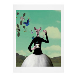 DENY Designs - DENY Designs Natt Butterfly Tea Art Print - Finally an affordable wall art option! Order one statement print or live on the edge and dream up an entire gallery wall. And whether you frame it or hang it as-is, your walls will be big on inspiration while being kind on your pocketbook.