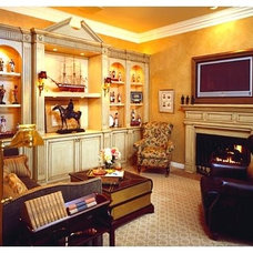 Traditional Family Room by Norman Design Group, Inc.