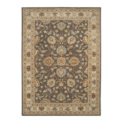 """Surya - Traditional Caesar Sample 1'6""""x1'6"""" Sample Charcoal-Beige  Area Rug - The Caesar area rug Collection offers an affordable assortment of Traditional stylings. Caesar features a blend of natural Charcoal-Beige  color. Hand Tufted of 100% Wool the Caesar Collection is an intriguing compliment to any decor."""