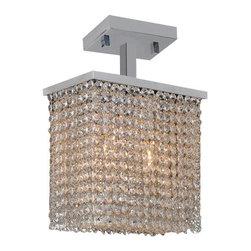 Worldwide Lighting - Worldwide Lighting W33753C10 Prism 2 Light Semi-Flush Ceiling Fixture - Features: