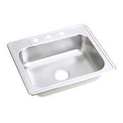 """Dayton - Elkay D125224  25"""" x 22"""" Dayton Sink - Elkay's D125224 is a 25"""" x 22"""" Dayton Sink. This sink is constructed from 22-gauge, 301 Series, nickel bearing stainless steel, and can be mounted on top of almost any surface."""