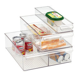 Fridge Binz - Use these bins to organize items in the freezer or refrigerator. These would be great for oddly shaped items that don't stack well.