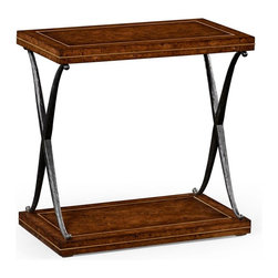 Jonathan Charles - New Jonathan Charles Accent Table Oak Iron - Product Details