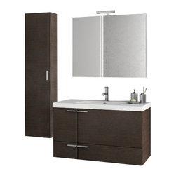 ACF - 39 Inch Wenge Bathroom Vanity Set - Set Includes: Vanity Cabinet (2 Doors,1 Drawer).