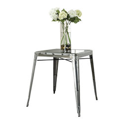 Crosley Furniture - Crosley Furniture Amelia Metal Cafe Table in Galvanized - Crosley Furniture - Dining Tables - CF220130GA - Originally made famous in the quaint bistros of France these midcentury replicas of original cafe tables will offer a dose of nostalgia combined with careful consideration for your wallet.  This inspired revival evokes a sense of a true vintage find.