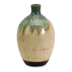 """IMAX - Lorant Small Vase - An unusual shape and distinctive finish give this ceramic vase a one-of-a-kind, artisan look. For a coordinated look purchase matching vases. Item Dimensions: (12.5""""h x 7""""w x 7"""")"""