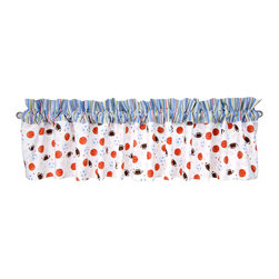 Trend Lab - Little Mvp - Window Valance - Why not go all the way? and complete your babys nursery with this wonderful accessory? The Little Mvp - Window Valance by Trend Lab features 9 ultrasuede tabs at the top that allow for easy hanging. Measures 53 in x 15 in and fits a standard size window. Care instructions - Machine wash cold with like colors; Gentle cycle; Do not bleach; Tumble dry low or line dry; Do not dry clean; Do not iron.