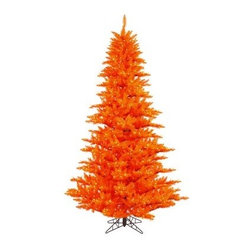 Vickerman Orange Fir Pre-lit Christmas Tree - The Vickerman Orange Fir Pre-lit Christmas Tree is a crisp orange fir tree that boasts a variety of features to make your holiday special. The tree features PVC tips with hinged branch construction, as well as an on/off foot pedal switch for your convenience.Specifications for 14-foot tree Shape: Medium Base Width: 94 inches Number of Bulbs: 2250 Number of Tips: 6921Specifications for 12-foot tree Shape: Medium Base Width: 82 inches Number of Bulbs: 1650 Number of Tips: 4631Specifications for 10-foot tree Shape: Medium Base Width: 68 inches Number of Bulbs: 1150 Number of Tips: 2980Specifications for 9-foot tree Shape: Medium Base Width: 64 inches Number of Bulbs: 1000 Number of Tips: 2326Specifications for 7.5-foot tree Shape: Medium Base Width: 52 inches Number of Bulbs: 750 Number of Tips: 1634Specifications for 6.5-foot tree Shape: Medium Base Width: 46 inches Number of Bulbs: 600 Number of Tips: 1216Specifications for 5.5-foot tree Shape: Medium Base Width: 34 inches Number of Bulbs: 400 Number of Tips: 794Specifications for 4.5-foot tree Shape: Medium Base Width: 34 inches Number of Bulbs: 250 Number of Tips: 525 Specifications for 3-foot tree Shape: Medium Base Width: 25 inches Number of Bulbs: 100 Number of Tips: 234Don't Forget to Fluff!Simply start at the top and work in a spiral motion down the tree. For best results, you'll want to start from the inside and work out, making sure to touch every branch, positioning them up and down in a variety of ways, checking for any open spaces as you go.As you work your way down, the spiral motion will ensure that you won't have any gaps. And by touching every branch you'll create the desired full, natural look.About VickermanThis product is proudly made by Vickerman a leader in high quality holiday decor. Founded in 1940, the Vickerman Company has established itself as an innovative company dedicated to exceeding the expectations of their customers. With a wide variety of