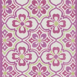 "Loloi Rugs - Loloi Rugs Zoey Collection - Purple / Green, 5'-0"" x 7'-0"" - Zoey is a delightful collection of lighthearted, cheerful patterns in pinks, blues and greens that are perfect for young kids or the young at heart. Power loomed in China of super soft polyester microfiber, Zoey rugs are durable, yet soft enough for infants and toddlers to cozy up to.�"
