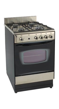 "Avanti - 20"" Gas Range - Free Standing 20"" Range, 2 Enamel Top Supporters, Oven Temperature Range: 200&deg-550&degF (93&deg-288&degC), Factory Pre-Set for Use with Natural Gas. Can be Converted for LP-Propane Gas (Parts Included), Bake & Broil Oven for Maximum Versatility, Waist High Broiler, Broil Pan Assembly, 4 Sealed Burners (3 Types): 1 Rapid Burner; 2 Semi-Rapid Burners; & 1 Simmer Burner, Automatic Electronic Ignition, Dual Porcelain Cook-Top, Oven Vent to Allow Air to Circulate Properly, 2 Oven Racks, Splashguard, Oven Door Handle, Leveling Legs, Anti-Tip Anchor Bracket, See-Thru Glass Door, Switch-Controlled Oven Light, Storage Drawer, Unit dimensions (39.5 x 19.5 x 26)"