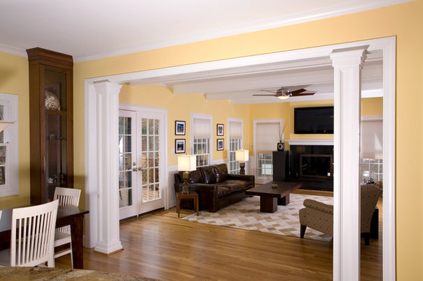 Traditional Living Room by Andrew Roby General Contractors