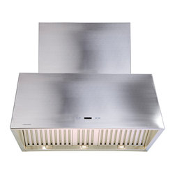 "Cavaliere - Cavaliere 198T2 42 Wall Mount Range Hood - Mounting version - Wall Mounted   600 CFM centrifugal blower   Three-speed electronic,with timer function   Delayed power auto shut off (programmable 1-15 minutes)   Three dimmable 35W halogen lights (GU-10 type light bulbs)   Three Stainless Steel Baffle Filters (dishwasher safe)   30 Hour cleaning reminder - delayed power auto shut off   High Quality 22 Gauge Stainless Steel   Telescopic chimney fits 8-9 ft ceilings   8"" round duct vent exhaust and back draft damper   Full stainless steel construction   One-year limited factory warranty on this island mounted range hood"