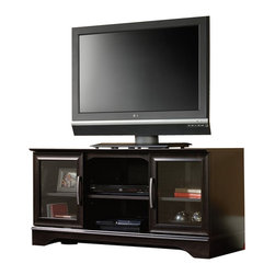 Sauder - Sauder Panel TV Stand With Post-Mount in Estate Black - Sauder - TV Stands - 412701 -