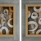 Paragon Decor - Sonic Collage II Set of 2 Artwork - Exclusive Mixed Media Shadow Box with Hand Painted Acrylic Overlay