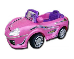 """Best Ride On Cars - Best Ride On Cars Sports Car Battery Powered Riding Toy - 698R-BLACK - Shop for Tricycles and Riding Toys from Hayneedle.com! From the car that Ferris Bueller """"borrows"""" to Magnum P.I.'s Ferrari to Lightening McQueen himself truly sporty cars are cherry like the Best Ride On Cars Kids Sports Car. Before your little speed demon goes tearing up the streets of Chicago or chasing criminal leads or running laps around the track you'll be perfectly content watching them have fun in the safety of your driveway. Particularly because you'll be able to do more than just watch. Until they are grown up enough to handle this ride on car on their own you'll be able to drive them around by remote control. This interactive play gives kids lasting memories to grow with as well as self-confidence that will empower them to learn and explore on their own. All the while they'll love the bevy of special features that make these riding toys feel like driving the real thing. The gas pedal horn rearview mirrors and real headlights and MP3 adapter steering wheel allow kids to feel grown-up as they're driving around. Parents will also love that this riding toy stays at a safe two miles an hour (and reverses). And because they can actually buckle up just like a real driver they'll begin establishing good habits that will keep them healthy and safe in the future. This riding toy's 6V battery has plenty of juice to keep the fun going up to an hour and a half after each 3-4 hour charge. Additional Features Plastic body construction 6V 10Ah battery and charger included Battery runs for 1-2 hours after each 3-5 hour charge Reverses and max speed is 2 mph Weight: 33.07 lbs. About Best Ride On CarsRealizing that an active childhood leads to a long healthy life Best Ride On Cars was formed with the admirable goal of helping kids enjoy every moment of their childhood through safe and active play. Producing a huge selection of high-quality toys for all age groups Best Ride On Cars hel"""